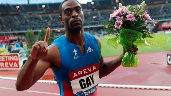 Tyson Gay is expected to be training at the Alexander Stadium in Birmingham later