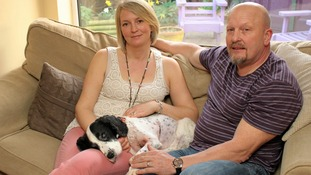 Jemma and Roger Vine with Oddie