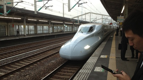 Bullet train in Japan 