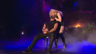 Madonna and Drake on the stage at Coachella.
