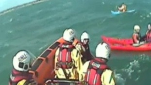 Kayakers rescued by coastguard