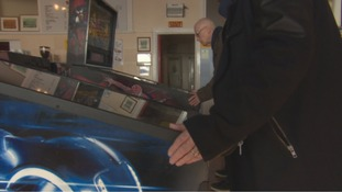 Pinball wizards at the Rendezous Cafe, Whitley Bay.