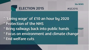 Key pledges: Greens vow to end austerity, tackle climate change and re-nationalise the railways