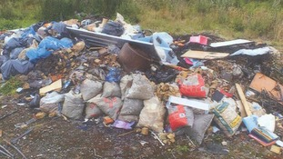 Two fined more than £6,000 for illegally dumping rubbish