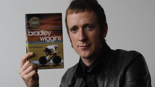 Olympic Cycling Gold medalist Bradley Wiggins during the launch of his autobiography
