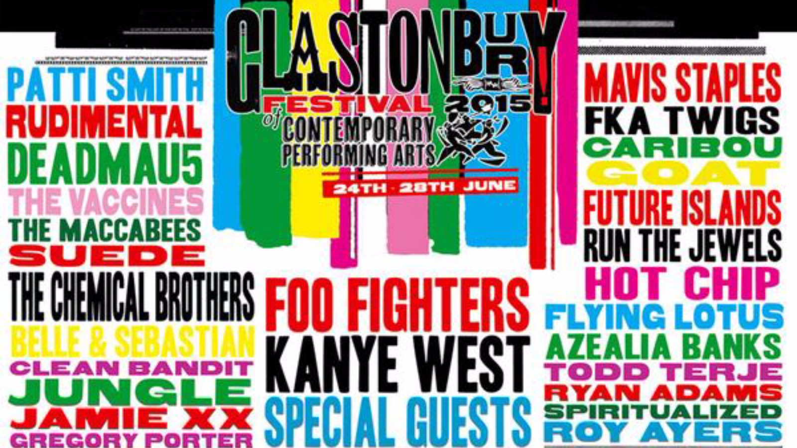 Glastonbury Line Up Update: Glastonbury Festival 2015 Line-up Unveiled