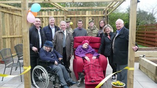 The official opening of the new gardening facility