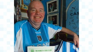John in his 'Sky Blue' room at home