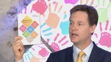 Nick Clegg launches the Liberal Democrat manifesto.