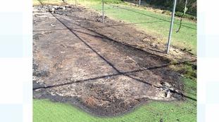 Arsonist targets cricket club in Newbury