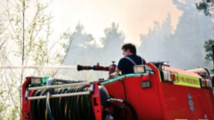 Crews tackle fire in Pirbright