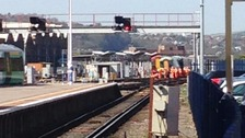 Train derails at Brighton