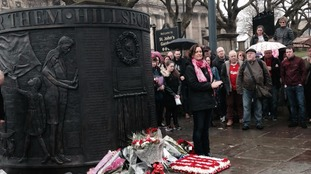 Hillsborough memorial in Liverpool