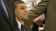 Former New England Patriots player Aaron Hernandez is sentenced