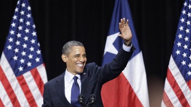 President Obama waves during a fundraising event earlier this week.