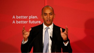 Chuka Umunna at The Tetley Gallery in Leeds where Labour's launch of its campaign.