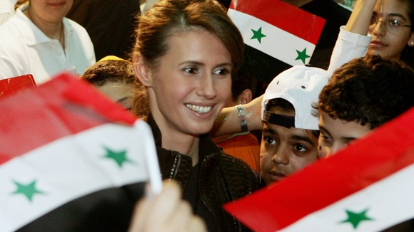 Asma Assad pictured in 2006