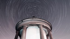 The North Star above the Temple in Heaton Park.