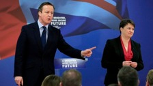 Prime Minister David Cameron and Leader of the Scottish Conservative and Union Party Ruth Davidson