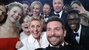 Ellen DeGeneres posted this selfie on Twitter from the Oscars