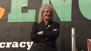 The Queen guitarist says Lib Dem politician Andrew George meets the standards of his Common Decency movement.