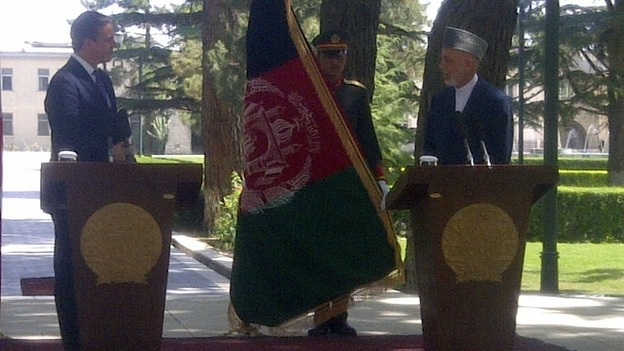 Cameron and Karzai give a joint press conference