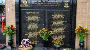 General view of the Valley Parade Fire Memorial