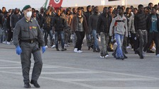 Dozens more migrants arrived in Sicily yesterday
