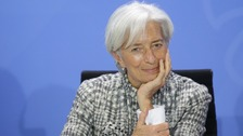 International Monetary Fund chief Christine Lagarde.