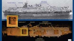 US Navy aircraft carrier discovered 'amazingly intact' on Pacific Ocean floor after 60 years