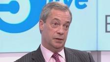 'I didn't lose my rag, Ukip leader Nigel Farage has said.
