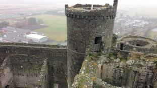 Harlech Castle in Gwynedd, North Wales
