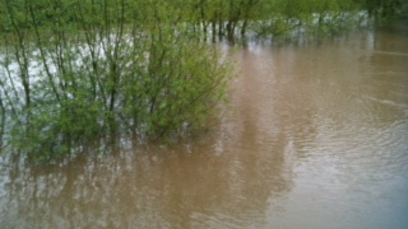 Flooding in Perwick, Worcestershire