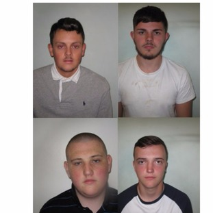 All four were given Football Banning Orders