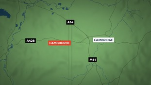 The 15-year-old girl was walking along the bridleway between Caxton and Cambourne.