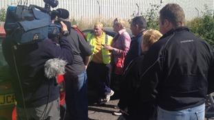 Remploy protests in Bridgend.