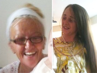 Bernadette Fox, left, and daughter Sarah, right, were both found dead at addresses in Bootle.