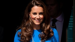 The Duchess of Cambridge outside at the National Portrait Gallery, in central London.