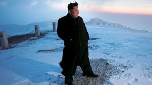Kim Jong-un was said to have climbed North Korea's highest mountain