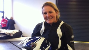 Claire Lomas prepares to ride again for charity