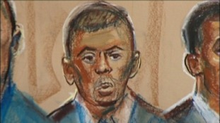 Artist impression of Ian Beckford in Court