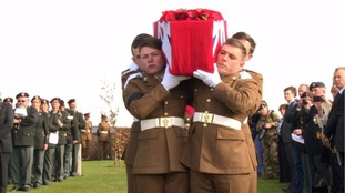 'Sad moment' for NW veterans as unknown soldiers reburied
