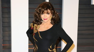 Actress Joan Collins at an Oscars party in February