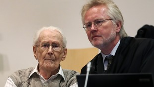 93-year-old Groning in court with his laywer Hans Holtermann