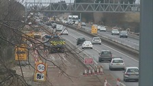 Roadworks on the A12.