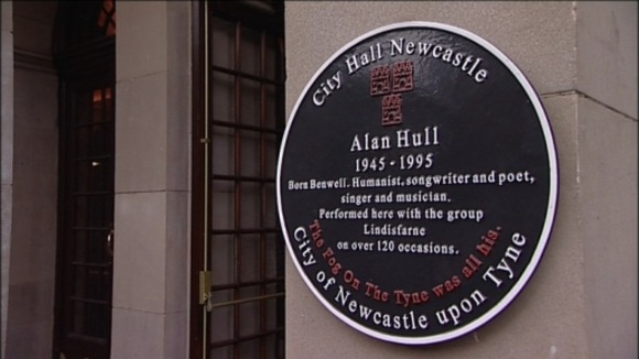 The Alan Hull memorial plaque
