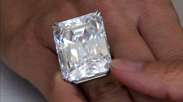 flawless 100 carat diamond ring sells for itv news