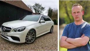 Mark Hamilton and the stolen Mercedes E63 AMG car