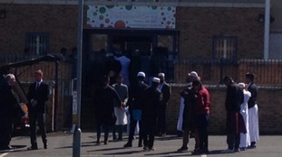 Tipus coffin has arrived at community centre