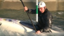 Team GB Slalom Canoeist Richard Hounslow in training
